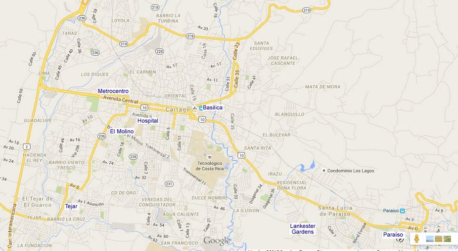 Map of Cartago