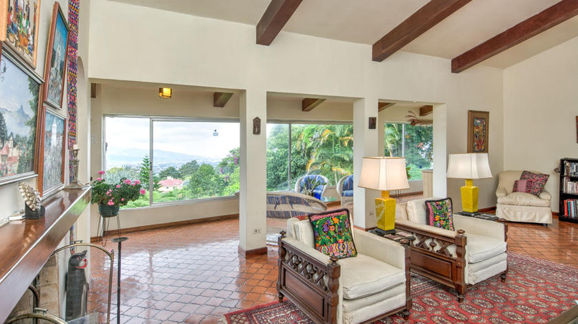 PRICE SLASHED! San Ramon de Tres Rios, 6200-ft2 House, 5 BRs, View, on Nearly 1 Acre