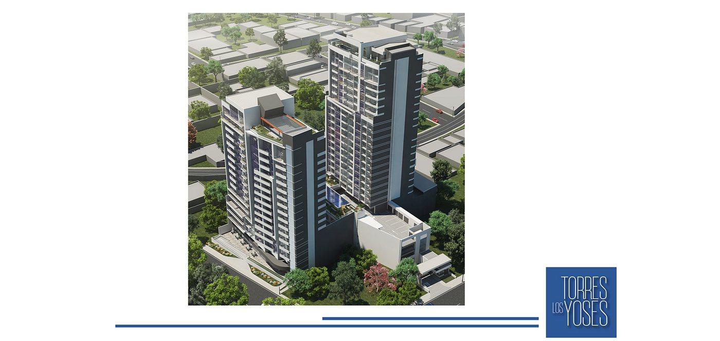 One-Bedroom, 46-m2 Apartment for Sale, Condo Torres Los Yoses, San Pedro